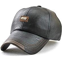 Wicemoon Gorra de Béisbol para Hombre Sombrero de Cuero Suave de PU  Sombrero Deportivo Al Aire 30f06f08e78