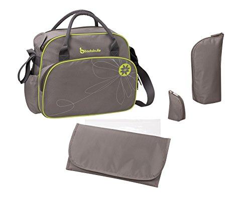 Badabulle Vintage Baby Changing Bag (Taupe/Green)