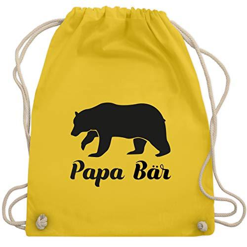 Vatertag - Papa Bär - Unisize - Gelb - WM110 - Turnbeutel & Gym Bag