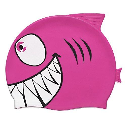 Grenhaven cuffia da piscina bambino squalo 100% silicone berretto piscina in vari colori