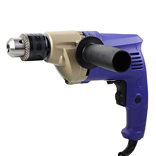 Slongda DIY Schlagbohrmaschine J1Z-KN12-10, Tiefenanschlag, Zusatzhandgriff, Koffer (600 Watt, max. Bohr-Ø: Holz: 25 mm, Beton: 10 mm, Stahl: 8 mm)