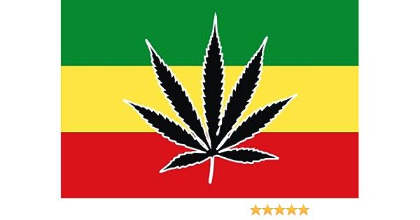 Michael Rene Pflüger Barmstedt 8 4 X 5 4 Cm Autoaufkleber Cannabis Hanf Marihuana Rasta Aufkleber Sticker Fürs Auto Motorrad Handy Laptop Auto