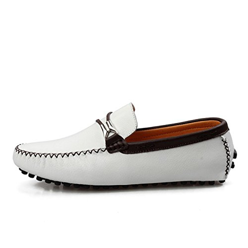 Minitoo ,  Herren Durchgängies Plateau Sandalen mit Keilabsatz Weiß