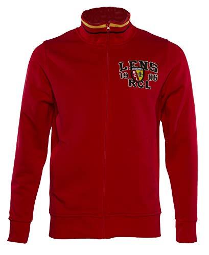 RC Lens Racing Club Veste mit Reißverschluss - Erwachsene Männergröße, Rot - rot - Größe: Large -