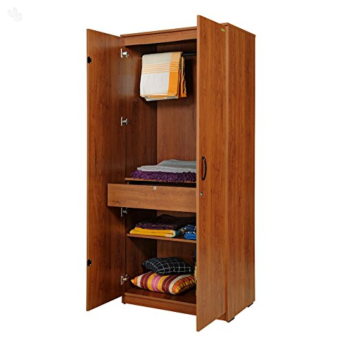 Zuari Star Two-Door Wardrobe (Natural Finish, Brown)  available at amazon for Rs.13950