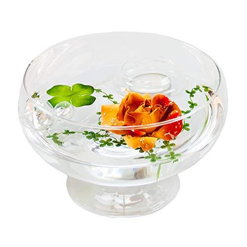 Angela roxy .11 h 75 cm-diamètre 17 cm (marron avec décoration rose/rouge grand format