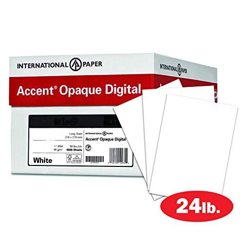 Accent 188083C Opakes weißes Papier, 60 lb Text, 89 g/m², 12 x 18 Papier, 97 hell, 5 Ries Hüllen, 2.500 Blatt, glattes Papier, Text Heavy Paper - Lb 60 Papier