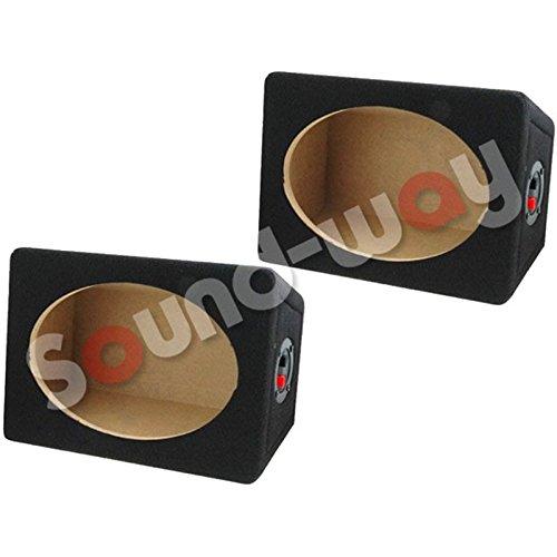 '2x Box Custodia di altoparlanti 6x 9-15x 23cm MDF