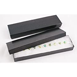 Cotton Filled Black Pinstripe Multi Purpose Bracelet Watch Box - BD82