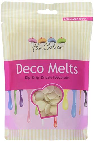 FunCakes Deko Melts, weiß,  250 g