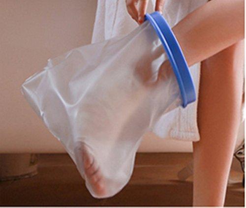 Muttiy Überzug für Beingips unter der Dusche, für Erwachsene, beste Versiegelung, wasserdichter Schutz, transparenter Überzug, für Fuß, Knie, Knöchel oder Wunden beim Baden, 100% wasserdicht