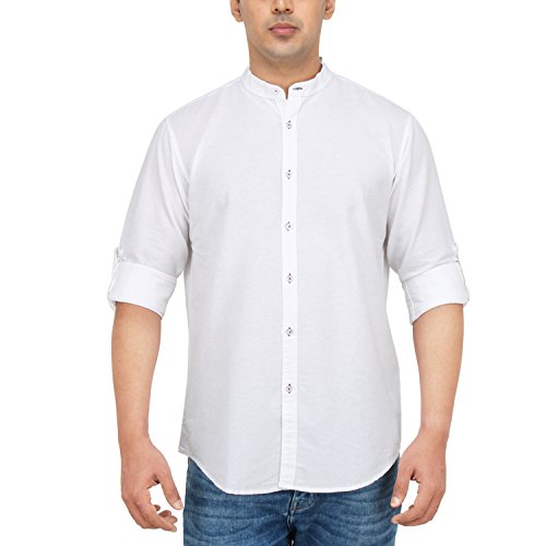 Dennis-Lingo-Mens-Cotton-Casual-Full-Sleeves-Slim-fit-ShirtC2011MWhite