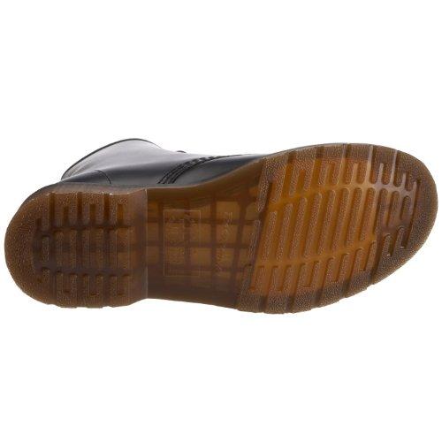 Dr Martens Chaussures en cuir lisse 146 Unisexe Noir Taille 8 Oeillets Chaussures à lacets Noir
