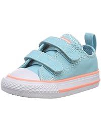 Converse CTAS 2V OX, Zapatos de Bebé Unisex Beb, Blanco (White/Cherry Blossom 100), 21 EU