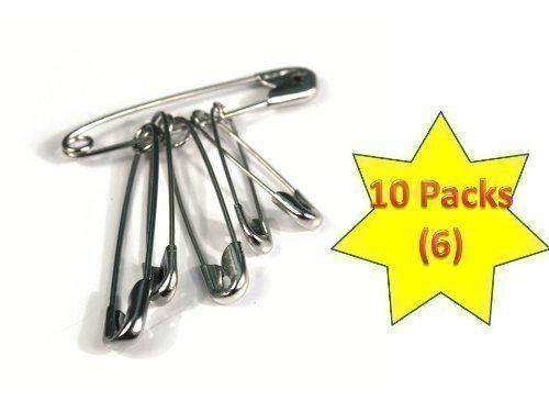 first-aid-safety-pins-in-packs-of-6-10-packs-total-of-60-pins-by-crest-medical-ltd