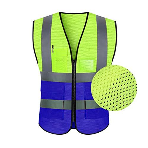 GYZ Reflektierende Weste Weste Sicherheitskleidung Verkehr Reiten Jacke Hygiene Arbeiter fluoreszierenden gelben Autofahrer (größe : B)