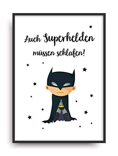 Batman Kostüm Cool - Kunstdruck SUPERHELD Poster Bild ungerahmt DIN A4 Geschenk