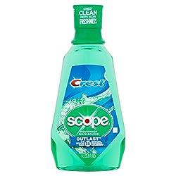 Crest Scope Outlast Long Lasting Mint Mouthwash, 33.8 fl oz
