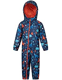 707789e385a Mountain Warehouse Puddle Kids Printed Rain Suit - Waterproof Childrens  Rain Coat