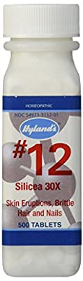 Hyland's #12 Silicea 30X Cell Salts (500 Tablets) by Hylands