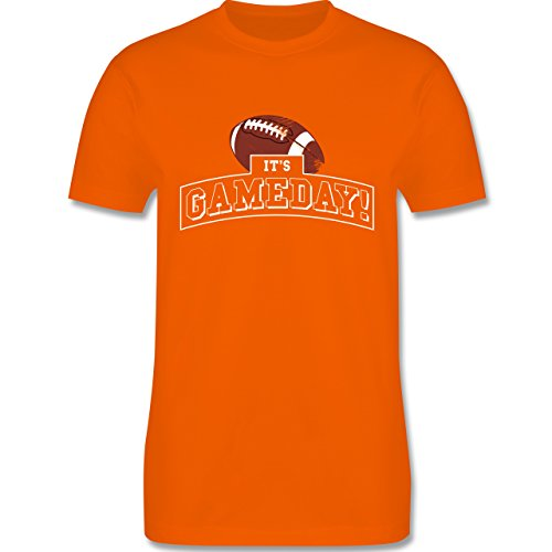 Sonstige Sportarten - It's Gameday Vintage Football - Herren Premium T-Shirt Orange