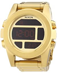 Nixon Herren-Armbanduhr XL Unit SS All Gold Digital Quarz Edelstahl beschichtet A360502-00