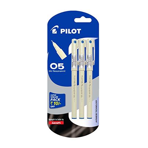 Pilot-Hi-Techpoint-05-Super-Value-Pen-Pack-of-3-Blue