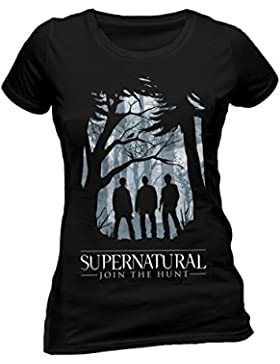super natural Supernatural-Group Outline W, Camiseta Para Mujer