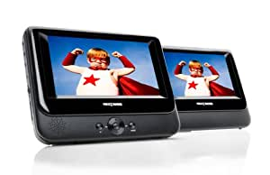 Nextbase NB48AM / SDV48AM Twin Screen 7-inch Portable DVD Player with Car Kit and Integrated Battery