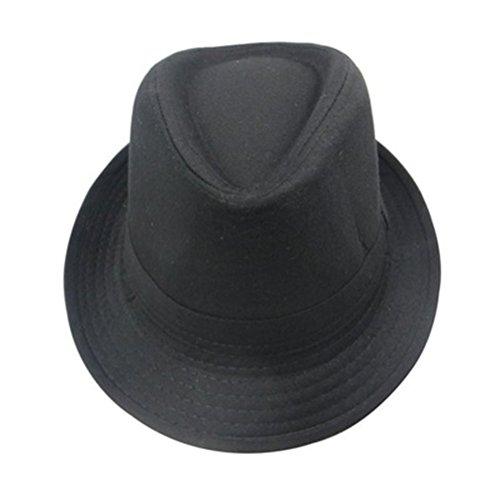 Tinksky Fedora Hüte Kinder Jazz Hut 56-58cm (schwarz)