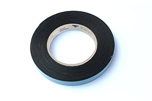 BONUS Eurotech 2BF42.61.0015/010A# Doppelseitiges Schaumstoffklebeband, Acrylklebstoff, Geschlossenzelliger Polyethylen, Länge 10 m x Breite 15 mm x Gesamtdicke 0,8 mm, Schwarz -