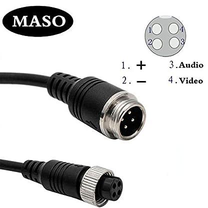 Maso-IR-Nachtsichtkamera-fr-LKW-Anhnger-Bus-Wohnmobil-Wohnmobil-Wohnmobil-4-polig-7-Zoll-Rckfahrkamera-Set-mit-16-m-langem-Kabel