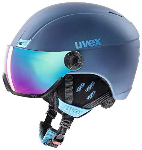 uvex Unisex- Erwachsene, hlmt 400 visor style Skihelm, navyblue mat, 58-61 cm
