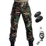 H Welt EU Esercito, pantaloni tattici militari da uomo con proteggi ginocchia per airsoft, paintball, lotta
