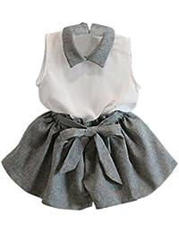 Tonsee Jolies filles Manches d'été T-shirt Shorts Vêtements Set Suit