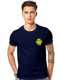 T Shirt - Android Logo Printed T-shirt - Android Graphics T Shirt - Android Blue Printed T Shirt - Blue
