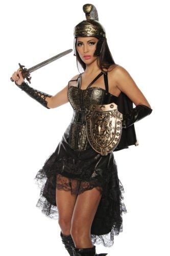 Traumhaftes Gladiator-Kostüm Römerin Karneval Mottoparty Kleid Fasching, Größe: (Frauen Kostüm Gladiator)