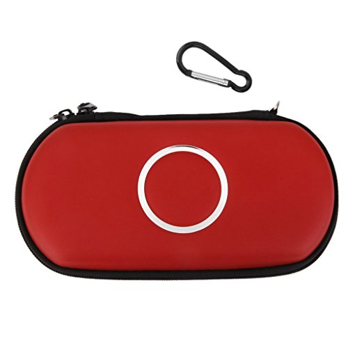 Generic Imported Carry Case Cover Bag Game Pouch For SONY PSP 1000 2000 3000 Slim -Red