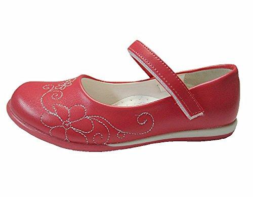 Festliche Kinder Ballerina Schuhe, Korallen Rot Gr.28-35 Rot