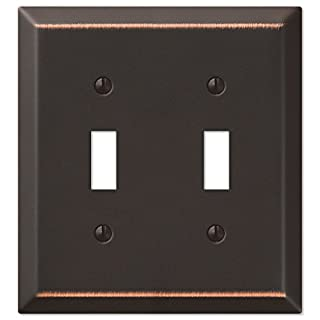 Amerelle 163TTDB Traditional Steel Wallplate with 2 Toggle, Aged Bronze by Amerelle