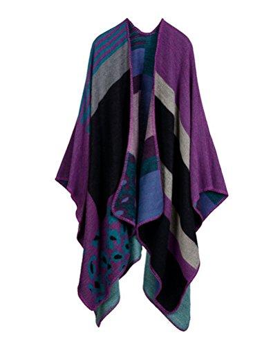 MatchLife Femme Automne longue écharpe Wrap Shawl Art9