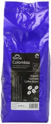 Suma Fairtrade Organic Colombia Cosurca Coffee Beans 1 kg from Suma