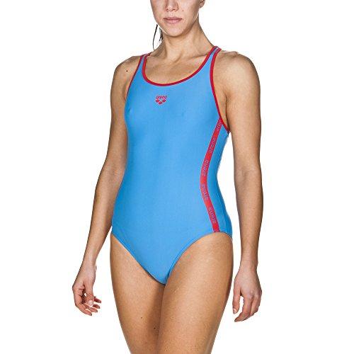 arena Damen Sport Badeanzug Hyper (Schnelltrocknend, UV-Schutz UPF 50+, Chlor- /Salzwasserbeständig), Pix Blue-Red (814), 40