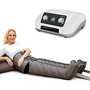 Venen Engel ® 6 Gleitwellen Massage-Gerät mit Bauch- & Beinmanschetten, 6 Luftkammern, Druck & Zeit unkompliziert einstellbar