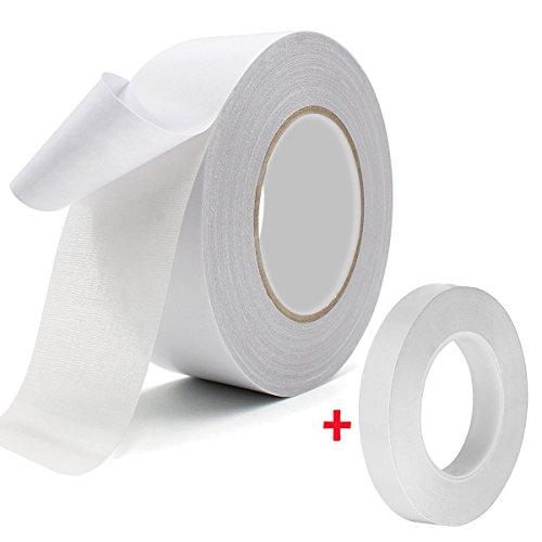 Double sided carpet tape -multiuso doppio nastro adesivo rimovibile antiscivolo antiscivolo tappetino pad tappeto underlayment adesiva per interni ed esterni, 5,1 cm x 24,7 m e 1/5,1 cm x 24,7 m