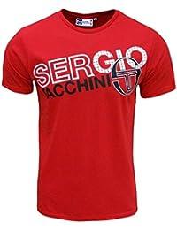 Sergio Tacchini - T Shirt Pour Homme Modèle Moritz Couleur Rouge