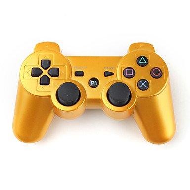 WH USD $ 15,95 - Kabelloses Dualshock Steuerkreuz für PlayStation3/PS3 (Gold) (Playstation3-fan)