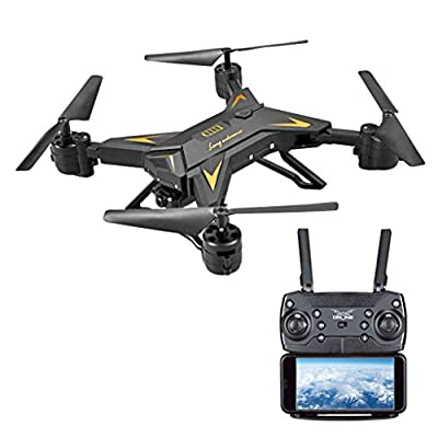 Jersh? Remote Control Drone, 2019 Foldable WIFI FPV RC Quadcopter Drone Fixed Height Quadcopter Large Remote Control Aircraft With 1080P 5.0MP Camera Selfie 1800mah Long Battery Life