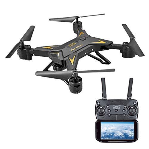 Winkey  Faltbarer Arm WiFi FPV 6 Achse 2.4G 4CH RC Quadcopter Drohne mit 1080P 5.0MP Kamera Selfie Drohne (Schwarz A)