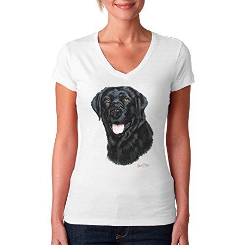 Im-Shirt - Hunde T-Shirt: Labrador Retriever cooles Fun Girlie Shirt - verschiedene Farben Weiß